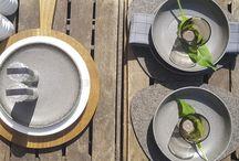 Sommerhauch / Sommergeschirr, Grillen, Balkon, Terrasse, Outdoor, Tischdeko, Tischdekoration