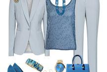 Nohavice modré a tyrkys