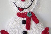 Boneco de neve tricot