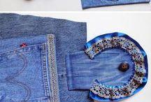 jeans recyklace