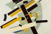 """20. század/avantgárd/szuprematizmus - konstruktivizmus / Az 50-es évek végétől, a konsrtuktivista és szerkezetelvű művészet modell-építő, analitikus-szisztematikus szemléletéből kiindulva a képi rendszerek alapelemeinek és meghatározó viszonylatainak kutatásával foglalkoznak.   A konstruktivizmus """"Az első világháború befejeződésével felerősödött a művészetben a geometrikus absztrakció irányzata. A művész folytasson hasonló tevékenységet, mint a mérnök, modellezze a jövőt, építsen (konstruáljon) - innen az irányzat elnevezése."""""""
