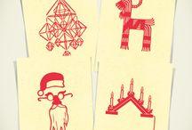 Joulupostia // Sending Christmas Cards