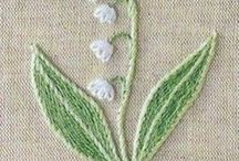 Lilly of the valley embroidery