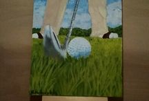 golf acrylic painting