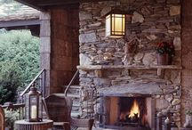 Fire places in and around the home / A fire place makes a home