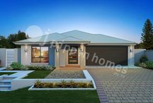 Bree Series / The single storey Bree is a beautifully functional four bedroom home, with two bathrooms, a separate media room, and a double car garage. The stylish master suite includes a walk-in robe and ensuite. Designed for a minimum block frontage of 14m, the home features an open plan living area which spills out to an alfresco area - perfect for outdoor entertaining! With your choice of facades, this 237.2 sqm home provides great functionality at an affordable price.