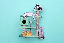 Cats -> Enamel Pins