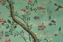 Hand-Painted or Printed Wall Coverings / Chinoiserie