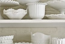 Vintage Milk Glass / A curated collection of vintage milk glass inspiration.