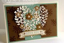 Bloomin' Heart die / Bloomin' Love stamp set