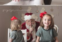 Winter Tales (Christmas photoshoot) / Christmas and New Year Santa with kids Christmas decorations