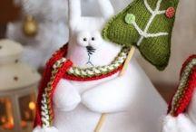 Текстильная кукла/Textile dolls&animals