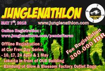 "JUNGLENATHLON 2016 / Berlari diarea Perbukitan & Hutan dengan melalui beberapa halang rintang. ""Running in Hilly area and Forest through some obstacle"""