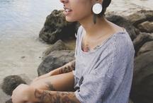 Tattoos & Body mod / Tattoos, flower tattoos, septum piercings, body modification, and all things alternative