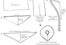 REGENCJA - wykroje na suknie/ REGENCY ERA - gowns patterns