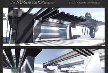 Second LIFE - NU_Sense V2 --- the store / -- The NU-Sense SHOP Revisited (mesh Version) ----- SLURL -- http://slurl.com/secondlife/New%20ITLAND/122/108/2702