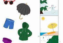 MŠ - pracovní listy - roční období, počasí