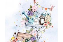 Illustration pot / A mix of hand painted and digital yet lovely