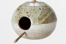 Casas de passarinho em Cerâmica