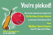 Cricket birthday party