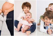 Serie #comocrecen en Fotobb Reportajes / Montaje con fotos realizados a los niños en diferentes visitas a nuestro estudio fotográfico.