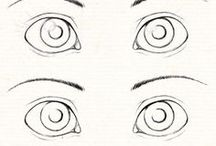 oči a výrazy