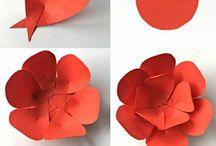 karton çiçekler