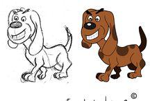Cartoon tekeningen door 3DL