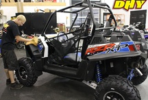 On the Showroom Floor / What you'll see on the showroom floor. Dirt bikes, sport bikes, cruisers, sport ATVs, utility ATVs, waverunners, scooters, parts, accessories, gear and casual wear.