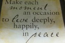 Home Decor Quotes / An array of framed, etched, painted, etc. quotes and phrases found in our stores.