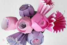 Kağıt Çiçek & kelebek & kalp
