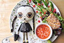 decorare con gli alimenti