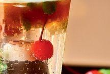 Drinks sem álcool e  água aromatizadas