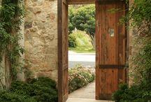 Puerta entrada jardin