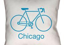Chicago, Illinois Throw Pillows