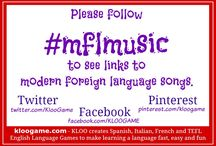 #mflmusic - Modern Foreign Language Songs / On this board I will pin links to Modern Foreign Language songs.