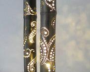 Lampes bambou