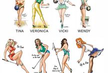 Pin up beauties / by Rebecca Ponzini