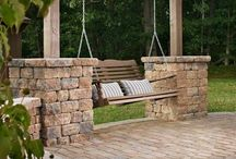 Outdoor entertaining areas with braai