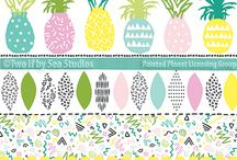 Artist Two if by Sea Studios / As the illustrator and self-proclaimed Pattern Practitioner behind Two if by Sea Studios, Brittany Zeller-Holland has been creating for product for over a decade.  Beyond patterns, this Michigan-native has a penchant for watercolor, gouache and hand lettering, filling her sketchbook and Instagram feed with her latest notions. Her lively artwork and hand-drawn illustrations add value and uniqueness to products of every niche.