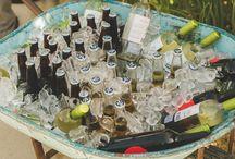 Rustic Wedding Drink Displays