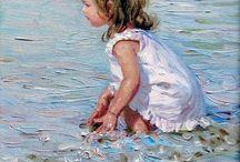 çocuk yagliboya resimler