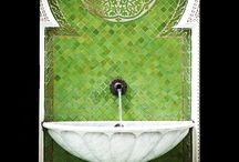 Fountains / Creating an oasis of calm. The beautiful be-spoke fountains are a design feature throughout the Royal Mansour