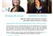 Workportfolio - Kennis in Media / Kennis in Media is a company I own, together with Leonie van der Smeede. We give lectures and trainings about kids and new media (internet, social media, games, google etc).