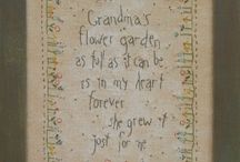 Grandma's Garden~ Quilts, Coverlets, Granny Squares, Crochet and Cushions / by Tracey Devlin