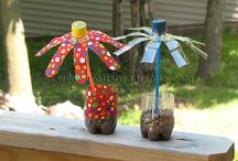 upcycled water bottles / by Pam Williams
