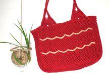 Macramé og crochet jute/burlap bags / Beautiful handmade jute/burlap hand bags
