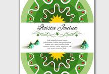 Askartelu / Kortteja, joista voi askarrella joulukoristeen