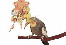 Bird & Parrot Toys - Vogel & Papegaai speelgoed / Speciaal vogelspeelgoed speelt een belangrijke rol in het leven van een kromsnavel. Papegaaien zijn namelijk hele intelligente dieren en om deze reden is het belangrijk dat zij worden uitgedaagd. Het is zeer belangrijk dat een vogel zich niet gaat vervelen, zodat ongewenste situaties zich niet zullen voordoen zoals het plukken van de veren. Met name foerageerspeelgoed stimuleert het natuurlijke gedrag en zorgt voor voldoende afwisseling.   Geniet van onze inspiratie