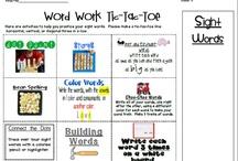 Word work / by Leslie Valsamakis